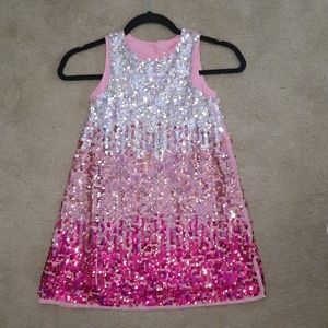 Girl's Ombre Flip Sequin Dress